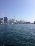 A view of Toronto from the sailboat